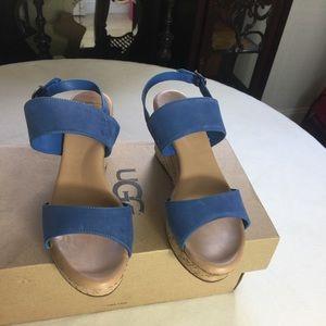 UGG Elena Azul Spadrilles Wedges.